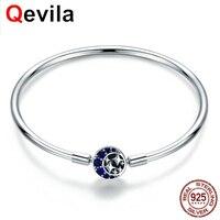 Qevila Fashion Bangles 925 Sterling Sliver Bangles Women Jewelry High Quality Romantic Starry Sky Bracelets Bangles For Women