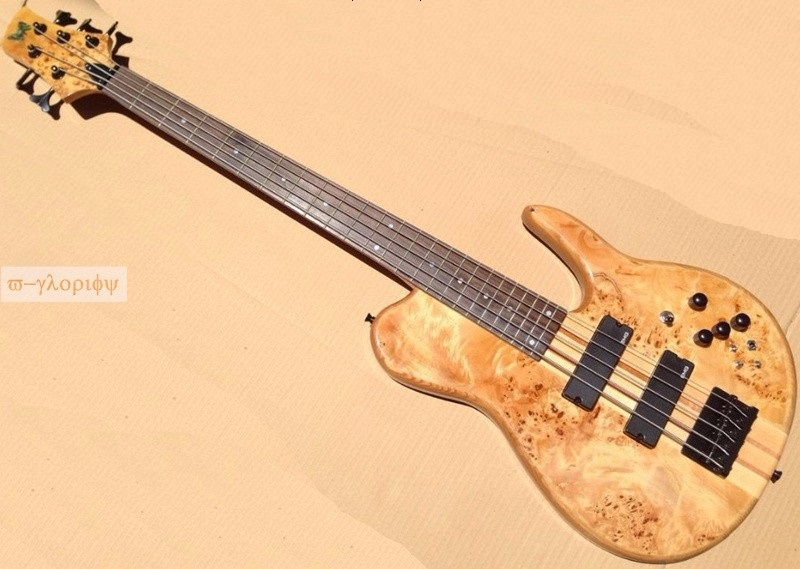 customized solid ashwood neck through 5 string electric bass guitar купить в Москве 2019