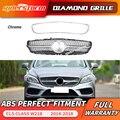 Für W218 diamant front grill ABS grille für Mercedes Benz CLS Klasse 2014-2018 Ersatz kühlergrill silber diamant grill