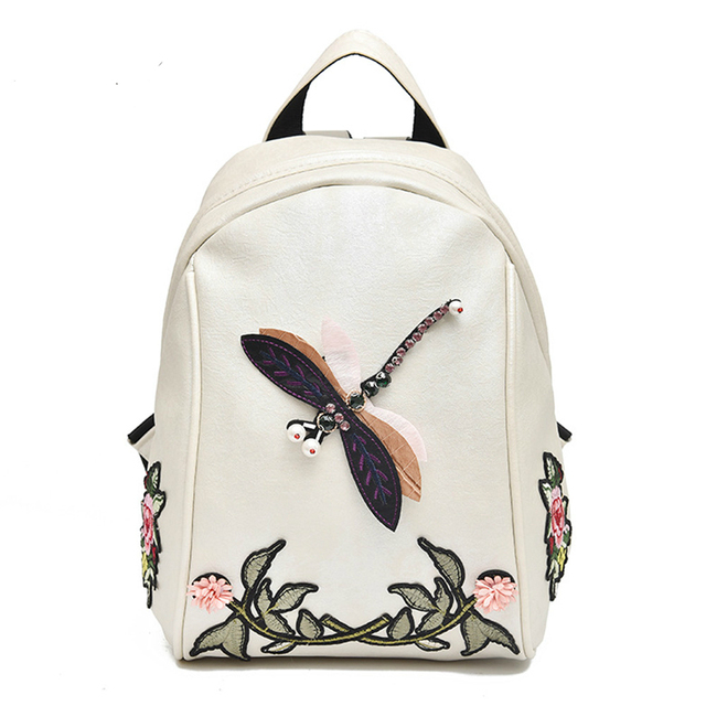 Aliexpress Buy Ttou Dragonfly Embroidery Women Backpack