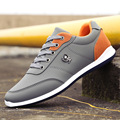 New Hot Sale Fashion 2017 Men Shoes pu Leather Casual Breathable Comfortable Lace Up Flat Shoes Quality Shoes Men Spring Autumn