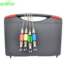 4Pcs Colorful Fishing Chain swinger carp swinger in black case