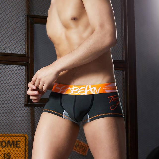 3pcs/lot SEOBEAN Men Underwear Boxers Shorts Cotton Men Boxers Solid Men Soft Underpants Underwear cotton Boxers Men