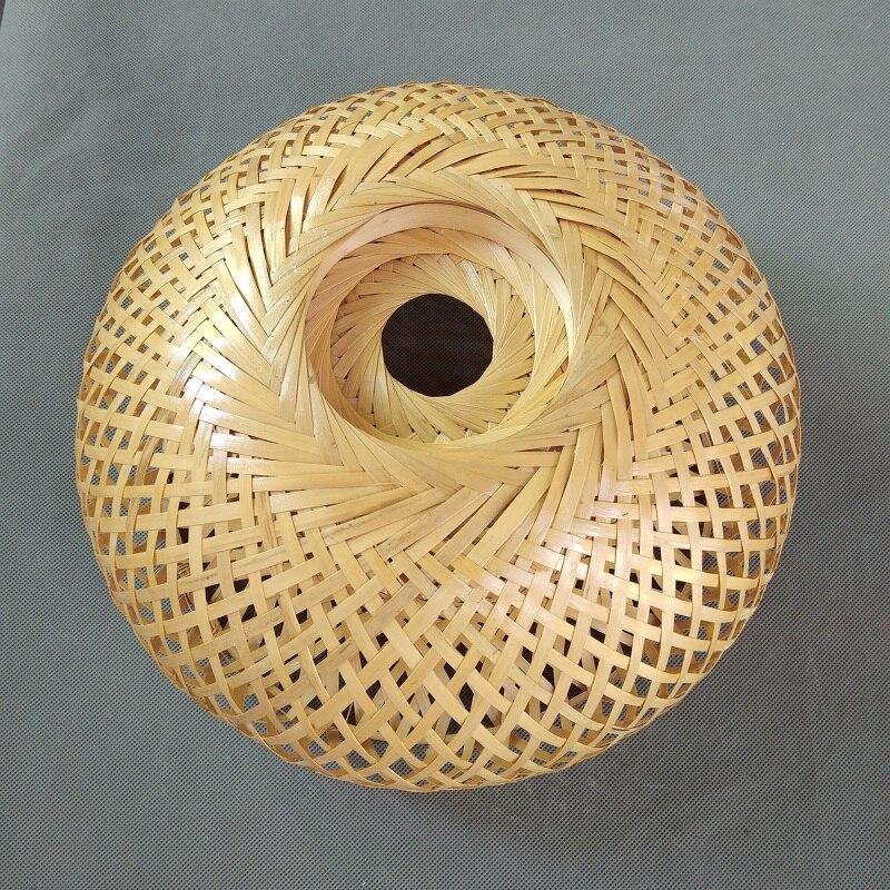 abat jour original en bambou et rotin tisse a la main double couche abat jour pour dome en bambou design asiatique et rustique japonais