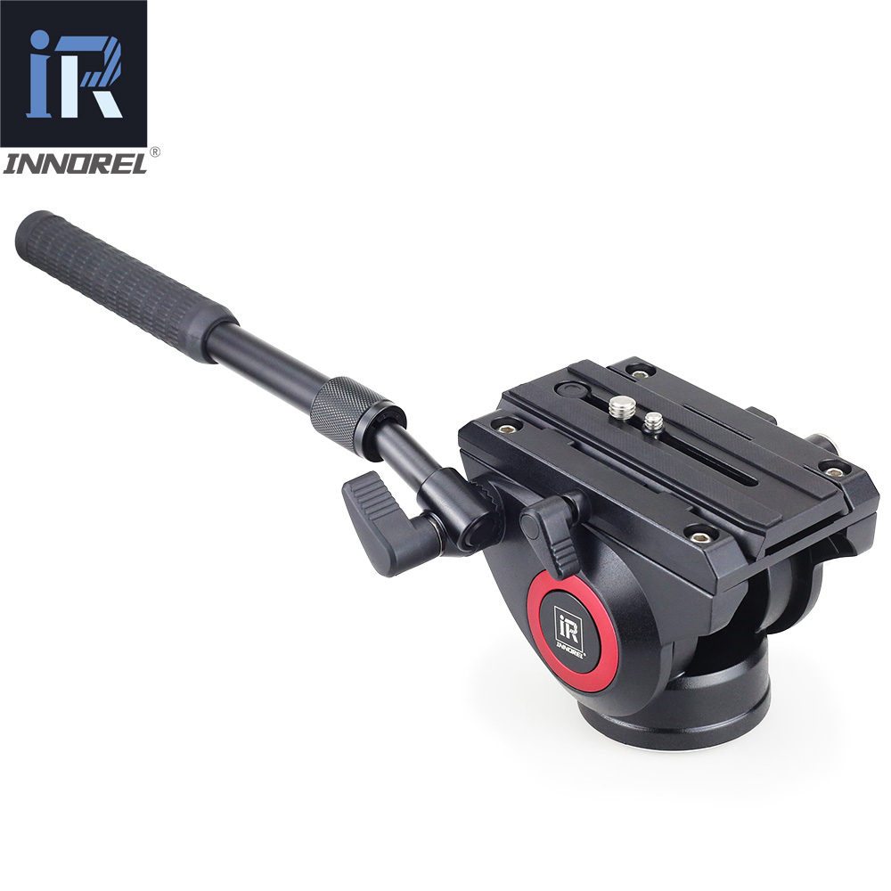 Image 2 - INNOREL Lightweight H80 Fluid Head Hydraulic Damping for DSLR Video Tripod Monopod Manfrotto 501PL Bird Watching Big Stable-in Tripod Heads from Consumer Electronics