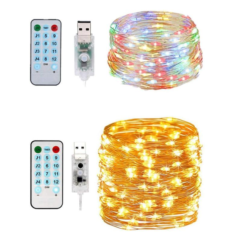 10M 100LED USB String Light Voice Control Holiday Party Decor Music Lamp For Holiday Party Decoration