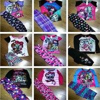 Monster Brand Girl Pajama Sets Princess Pyjamas Kids Pajama Infantil Sleepwear Home Cartoon Cotton Baby Girls