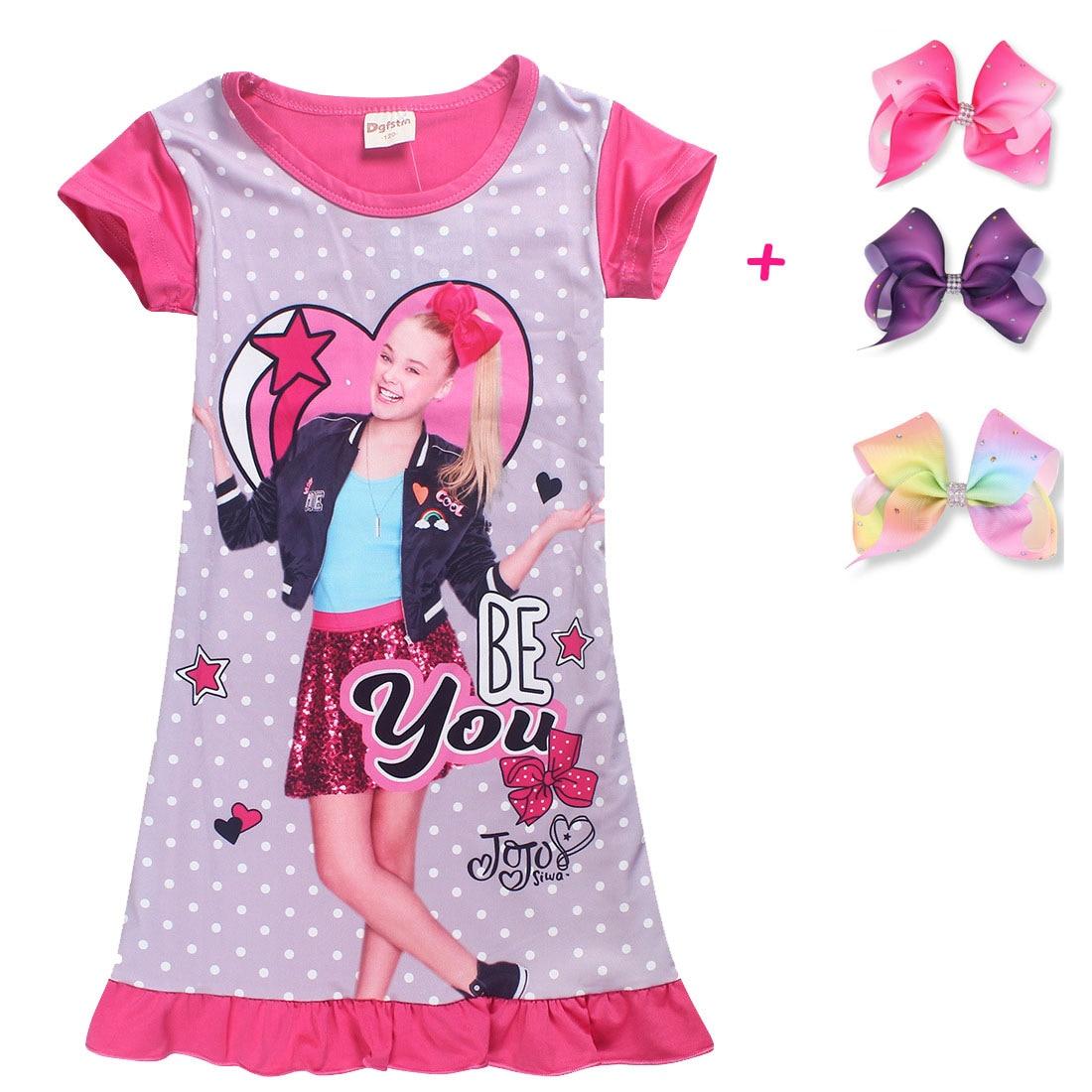 91e00b93ed5fc 2019 New Children Summer t shirt girls boys Clothes jojo siwa ...