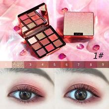 ZHENDUO 9 Color Crystal Starry Sky Shimmer Glitter Eyeshadow Natural Long Lasting Eye Shadow palette beauty  makeup