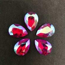 Rojo AB DR cristal de coser diamantes de imitación punto de fondo DIY vestido de boda y Bolsa 6*8 7*10 10*14 13*18 18*25 20*30