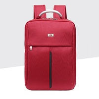 New Simple College Style Leisure Girl Backpack School Bags Unisex For Book Laptop Red Preppy