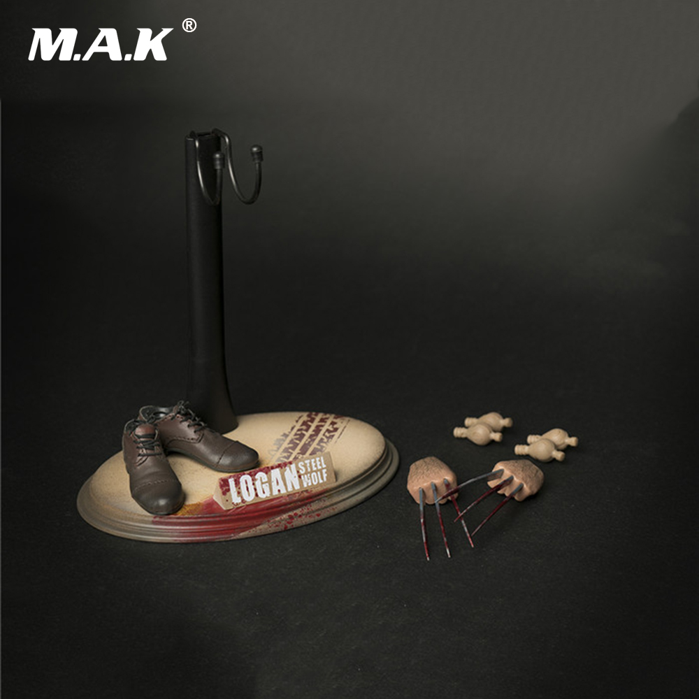 1 6 Scale Male Figure Accessory OT 009 Wolverine Logan Accessory Claw Shoes Stand Set Model
