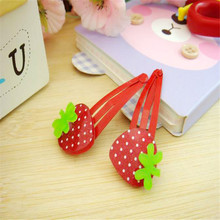 Red Strawberry Hair Clips 6 pcs/lot Acrylic Children Hair Accessories Baby Toddler Girls Hairpin Floral Baby Girl Headbands