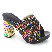 KL813 99 on sales African party shoe for high quality black PU leather made and with