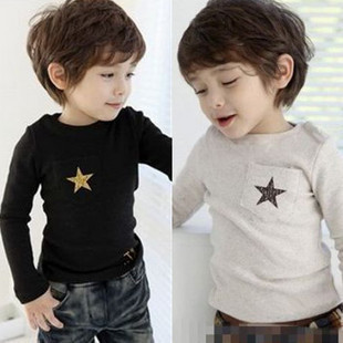 Promotion Children Boys Apparel Autumn Long-sleeve 100% Cotton Kid's Clothes Cheap Selling,Free Shipping
