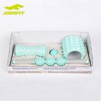 JOINFIT 4 in 1 Massage Foam Roller Set, Muscle Roller Stick Massager , Spiky Foot & Body Massage ball and EVA Foam Roller