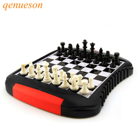 High Quality Drawer Style Chess Magnetic Mini Family Game ABS Plastic Chess Set For Friend Children