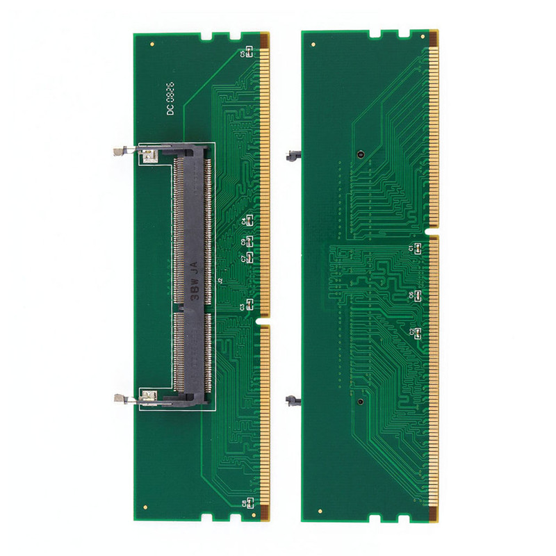 1pc DDR3 Laptop SO-DIMM to Desktop DIMM Memory RAM Connector Adapter DDR3 204 Pin Laptop To 240 Pin Protection Card DropShipping adata ddr3 1600 2g so dimm 2gb memory module storage ram for notebook laptop