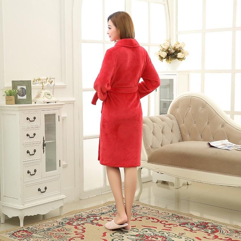 Unisex Mens Women\'s Long Polyester Sleep Lounge Robes RBS-C LYQ114 5