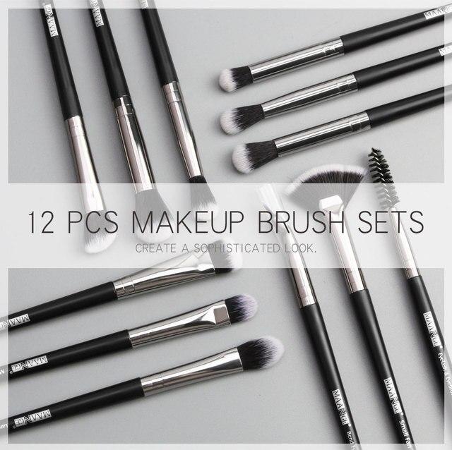 Makeup brushes set professional 12 pcs/lot Makeup Brushes Set Eye Shadow Blending Eyeliner Eyelash Eyebrow Brush For Makeup Tool 2