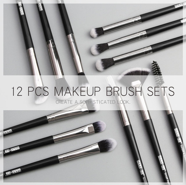 Makeup brushes set professional 12 pcs/lot Makeup Brushes Set Eye Shadow Blending Eyeliner Eyelash Eyebrow Brush