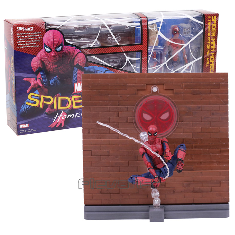 SHF SHFiguarts Spiderman Homecoming  Tamarshii Option Act Wall PVC Action Figure Collectible Model Toy 14cmSHF SHFiguarts Spiderman Homecoming  Tamarshii Option Act Wall PVC Action Figure Collectible Model Toy 14cm