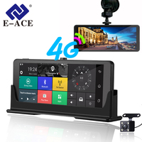 E ACE 4G Car Dvr Camera ADAS Android Autoregister With GPS Navigation Full HD 1080P Video Recorder Two Cameras Vehicele