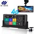 E-ACE E07 4G Автомобильный видеорегистратор Камера ADAS Android авторегистрация с gps-навигацией Full HD 1080P видеорегистратор две камеры s Vehicele