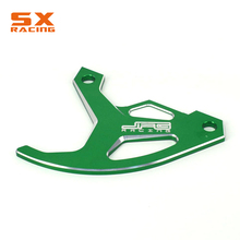 Motorcycle CNC Green Guard Rear Brake Disc Rotor Protector Cover For KAWASAKI KLX450R 2007 2008 2009 KX125 KX250 KX250F KX450F недорго, оригинальная цена