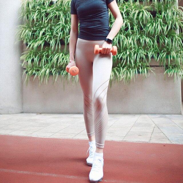 2018 neue Nahtlose Aushöhlen Sport Leggings Frauen Bauch-steuer Hohe Taille Fitness Yoga Hosen Plus Größe Workout Strumpfhosen S-XXL