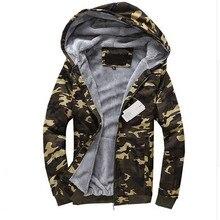 Herren winter dicke warme tarnung mit kapuze Sweatshirts mann casual langarm mit reißverschluss Hoodie M-4XL (Asiatische größe)