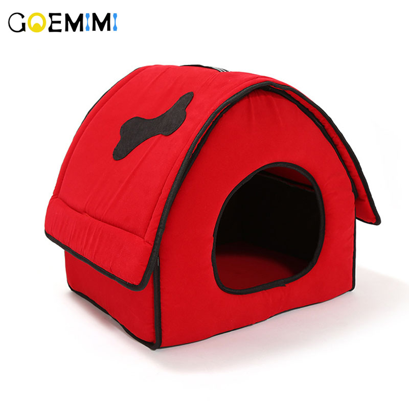 2018 New Arrival Dog red House Removable Cover Comfotable Bed For Puppy Top Quality  Kennel Pet Small cat dog
