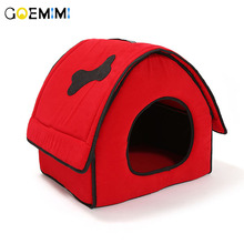 2018 New Arrival Dog red House Removable Cover Comfotable Bed For Puppy Top Quality Dog Kennel Pet House For Small cat dog