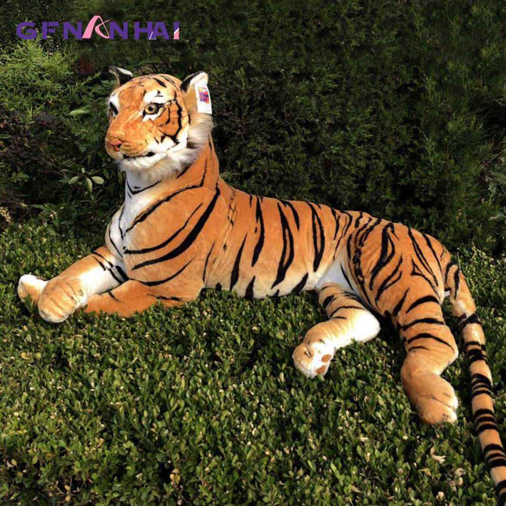 1pc 75/90cm Creative Simulation Tiger Plush Toy Stuffed Soft Animal Forest Tiger Pillow Dolls For Children Kids Birthday Gift