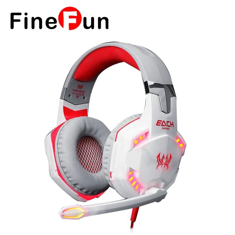 ФОТО FineFun G2000 Game Headset Phone Headset Earplugs Stereo Headsets Helmet With Microphone Headphone PC Games leading to Computer