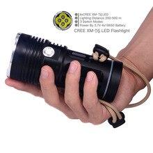 Free Shipping 4T6 Black color 4 x CREE XM-L T6 LED 6000 Lumen 3 Mode 18650 Portable Camping hiking LED Flashlight Torch Lantern