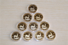 10x dated 1oz Krugerrand South Africa Coins Kruger springbok gold African,Free shipping 10pcs/lot