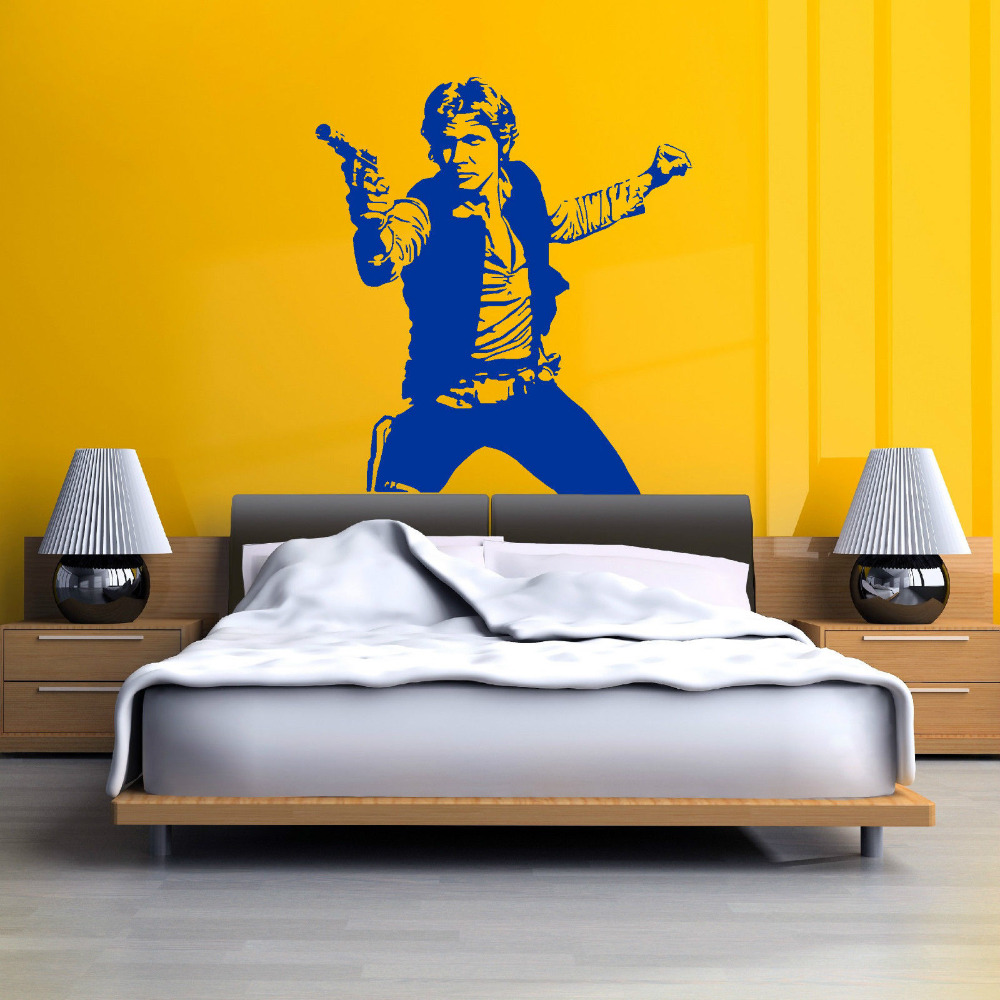 Aliexpress.com : Buy STAR WARS HAN SOLO vinyl wall art decal sticker ...