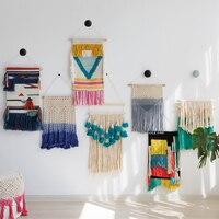 Ins fringe nordic hand woven wall tapestry tassel for living room