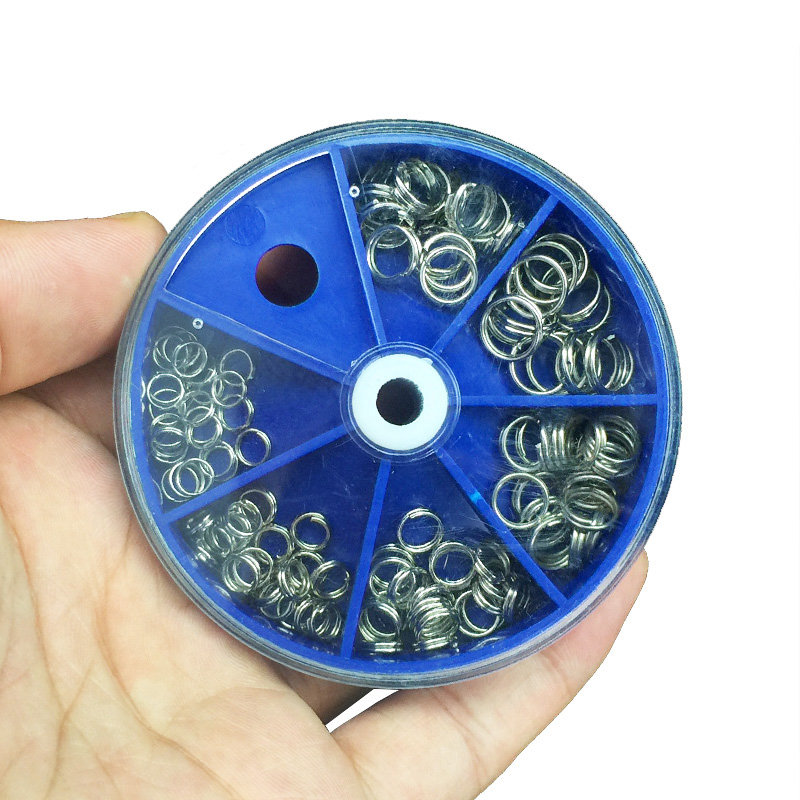 116PCS/Lot Stainless Steel Split Rings Set Fishing Accessories Fishing Split Ring Connector For Blank Lures Crank Bait