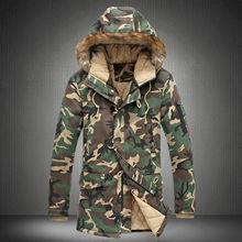Мужская камуфляжная куртка, толстая парка с капюшоном в стиле милитари, для зимы, 2020