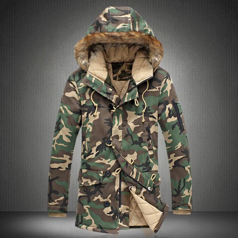 2019 New Brand Winter Men Thick Camouflage Jacket Men's Parka   coat   Male Hooded Parkas Jacket Men Military Overcoat