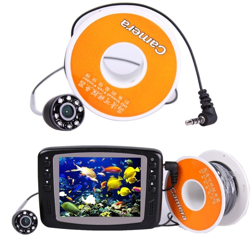 15m 3.5 Lcd Monitor 600tvl 8 Led Underwater Video Fishing Fish Finder Camera Security & Protection Video Surveillance