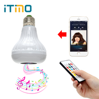 ITimo E27 Smart RGB RGBW Wireless Bluetooth Speaker Bulb Music Playing Dimmable LED Bulb Light Lamp