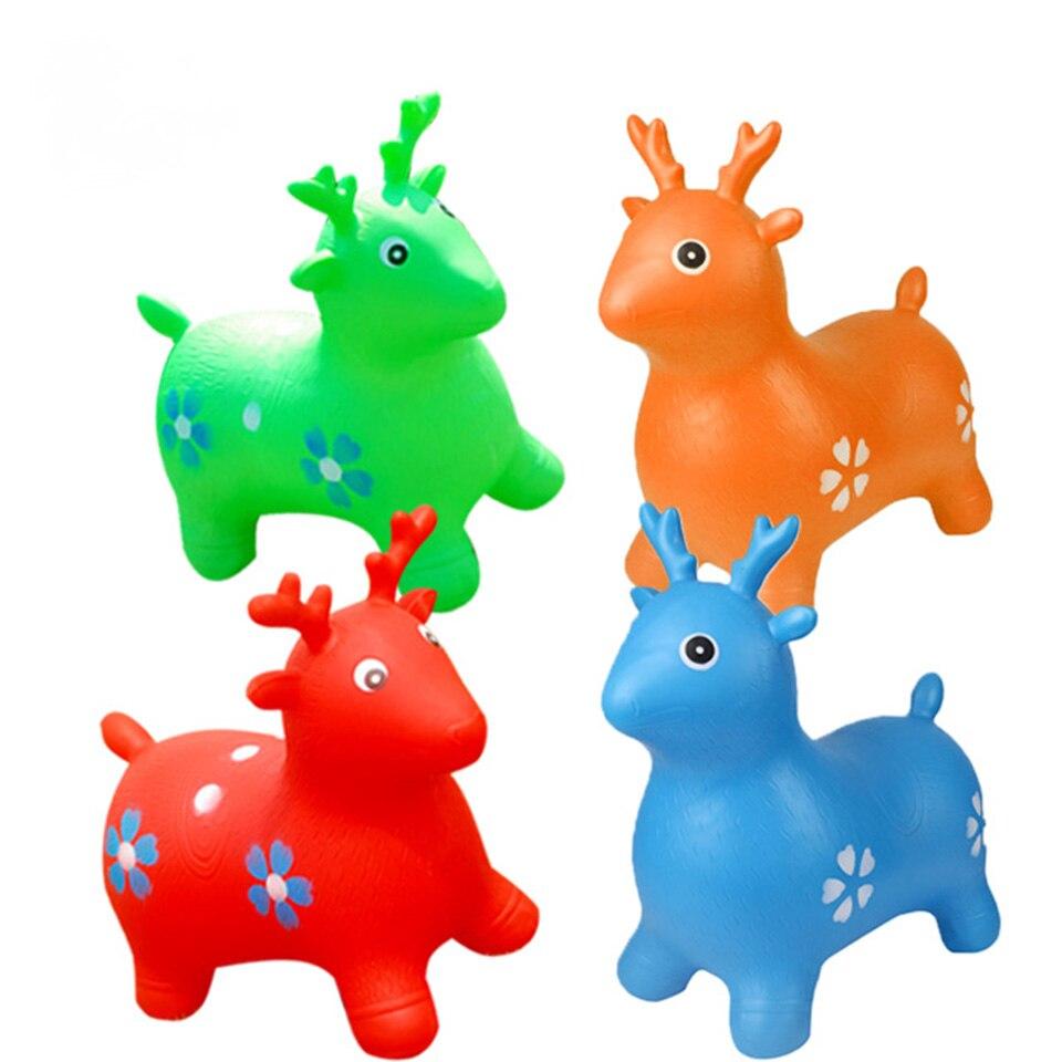Подпрыгивая животных прыжки пива детей ежедневно Игрушечные лошадки осуществлять руки и Средства ухода за кожей стоп гибкость ...