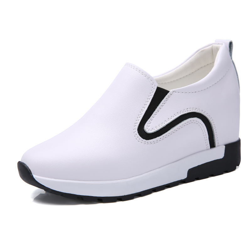 Height Increasing Summer Air Mesh Shoes Women's Casual Shoes Fashion Walking Shoes Women Swing Wedges Shoes Breathable 5J955(China)