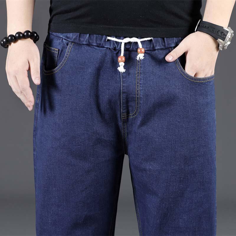 Big Size 8XL Black Jeans Hip Hop Men Jeans Pants Cotton Denim Straight Loose Baggy Harem Trousers Stretched High Waist Clothes