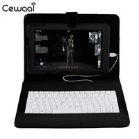 Cewaal Tablet Cas Clavier Cas Tablet Couverture Premium 10.1 Pouce Tablet PC clavier