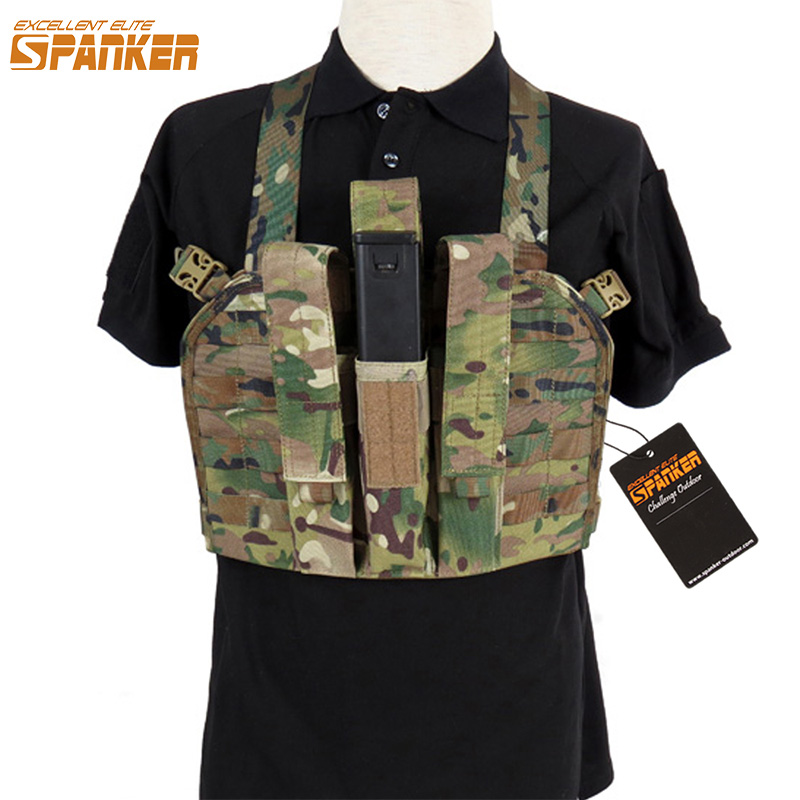 EXCELLENT ELITE SPANKER Tactical Triple KRISS / MP7 Magazine Pouch Chest Rig Ammo Clips Bag Outdoor Military Hunting Equipment велосипед stels pilot 350 20 z011 2018