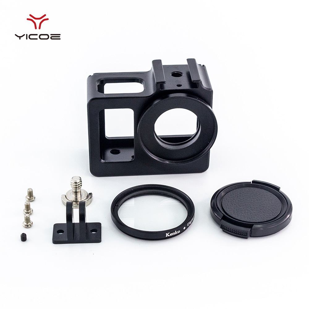 6076f31318d Cover with UV Filter Lens Protective Cap Mount for SJCAM SJ4000 SJ6 SJ9  Accessories